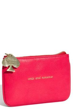 Inspiration: kate spade new york 'cents & nonsense' coin pouch | Nordstrom