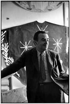 French editor, E. Teriade in the garden of his villa at Saint-Jean-Cap-Ferrat, Alpes-Maritimes, France, June 1951 by Henri Cartier-Bresson