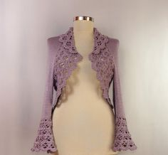 Lavender Nights of Istanbul / Lilac Crochet Shrug by lilithist, $210.00