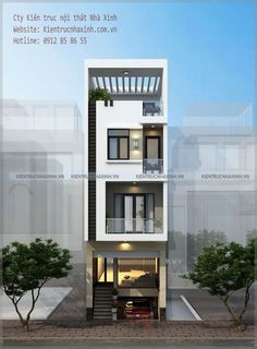 Flat House Design, House Outer Design, 3 Storey House Design, Narrow House Designs, Narrow House Plans, Modern Small House Design, Small House Exteriors, Duplex House Design, House Front Design