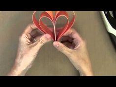Coraçoes duplos de papel - YouTube