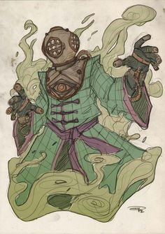 Mysterio Steampunk Re-Design by Denis Medri
