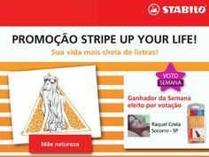 A mais VOTADA da SEMANA na #promoção #StripeUpYourLife foi a Raquel Costa, de Socorro/SP. Ela ganhou um estojo repleto de #STABILO pra desenhar ainda mais! \o/ Parabéns, Raquel! #STABILOBrasil