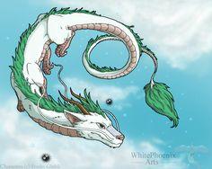 studio ghibli spirited away haku dragon Spirited Away Dragon, Spirited Away Tattoo, Ghibli Tattoo, Miyazaki, Totoro, Dragon Oriental, Personajes Studio Ghibli, Mandala Rose, Chihiro Y Haku
