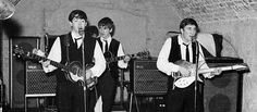 The Beatles at the Cavern Club in Liverpool 1962