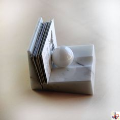 ON SALE CARDBALL - Business Card holders of real white Carrara marble, card holder marble carrara marble