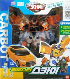 Hello Carbot - Veloster Sky Transforming  Toy Robot  TV Animation Character #SONOKONG