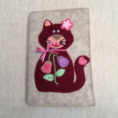 Cute Handmade Felt Cat Notepad,Notepad Holder,Cat Notebook,Cat Padfolio…