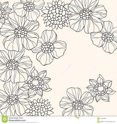 outlined-doodle-flowers-vector-11265439.jpg (1300×1390)