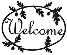Wrought Iron Welcome Sign features a decorative Acorn Silhouette - It can be used inside or outside to welcome your visitors. Available in 2 sizes - Mounting Hardware is included. Metal Wall Decor, Diy Wall Art, Metal Wall Art, Metal Welcome Sign, Welcome Home Signs, Your Welcome, American Craftsman, Metal Walls, Acorn