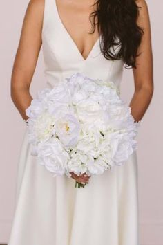 Something Borrowed Blooms Audrey Collection Something Borrowed, Wedding Flowers, Wedding Dresses, The Borrowers, Flower Designs, One Shoulder Wedding Dress, Bouquet, Bloom, Silk