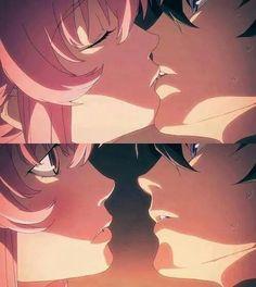 Mirai Nikki kiss