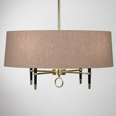 Ventana Single Tier Chandelier, brass and ebony, jonathan adler, dining rm, 750