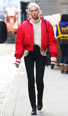 Everyone is talking about this Victoria's Secret model's impeccable style (including us). See why her winter outfits, in particular, are perfect here.
