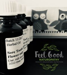 No more red, swollen teething gums with this all natural, herbal oil. Ideal for teething gums and toothache. Sore Tooth Flower Oil.