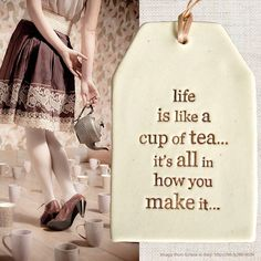 We found some lovely tea related images from tea loving Grace in Italy - which we have put together as a montage and thought we would share...