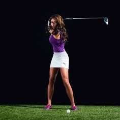 Expert Golf Tips For Beginners Of The Game. Golf is enjoyed by many worldwide, and it is not a sport that is limited to one particular age group. Not many things can beat being out on a golf course o Golf Attire, Golf Outfit, Girls Golf, Ladies Golf, Holly Sonders, Sexy Golf, Golf Photography, Golf Channel, Golf Wear