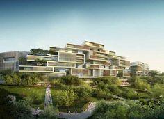 Chengdu Building Development - design by Adrian Smith + Gordon Gill Architecture