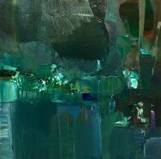 """""""the fountain II"""", oil on canvas, 40x40 cm"""