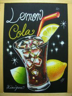 KIMIGON FOOD CHALKART 絵日記:リビングチョークアート教室 Chalk It Up, Chalk Art, Chalk Writing, Chalkboard Signs, Life Planner, Summer Drinks, Watercolor, Lettering, Wallpaper