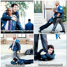 Brooklyn nine nine Best Tv Shows, Movies And Tv Shows, Hunger Games, Brooklyn Nine Nine Funny, Andy Samberg, Comedy Tv, Parks N Rec, Book Tv, Movie Quotes