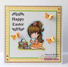 It is time for Sasayaki Glitter March New Release Plus a Freebie. All of our Digi Stamps can be found in our ETSy Store . Polychromos, Digi Stamps, Happy Easter, Etsy Store, March, Glitter, Butler, Frame, Projects