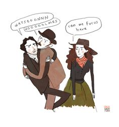 "gingerhaze: "" Sherlock Holmes: Game of Shadows Summary. "" [image: a drawing of Sherlock Holmes and Watson crawling over each other moaning each other's names. Sherlock Holmes Robert Downey, Sherlock John, Robert Downey Jr, Johnlock, Everett Ross, Holmes Movie, Jeremy Brett, Guy Ritchie, Sherlock Fandom"