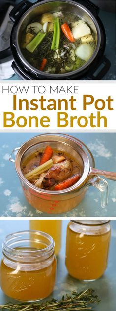 pinterest image for how to make instant pot bone broth