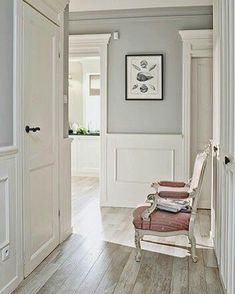 Thinking about hallway decor: neutral wall panelling and greys blues or greens above for a calm #coastalstyle . Time to get the mitre box out me thinks  #DIY - Architecture and Home Decor - Bedroom - Bathroom - Kitchen And Living Room Interior Design Decorating Ideas - #architecture #design #interiordesign #diy #homedesign #architect #architectural #homedecor #realestate #contemporaryart #inspiration #creative #decor #decoration