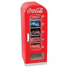 Coca-Cola Beverage Cooler at Lowe's. The Coca-Cola 10 Can Retro Vending Cooler dispenses refreshing beverages at the push of a button. This unique vending machine features the classic, retro Refreshing Drinks, Fun Drinks, Beverages, Summer Drinks, Layout Design, Design Ideas, Coca Cola Vintage, Beverage Refrigerator, Compact Refrigerator
