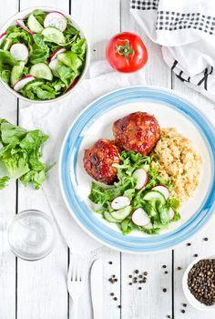 Pieczone kotlety mielone z pomidorową glazurą Potato Salad, Dinners, Potatoes, Ethnic Recipes, Fit, Dinner Parties, Shape, Food Dinners, Potato