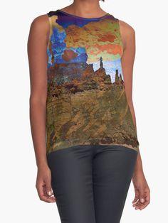 take a hike! Southwestern Desert Landscape Abstract tank top by TammyWinandArt