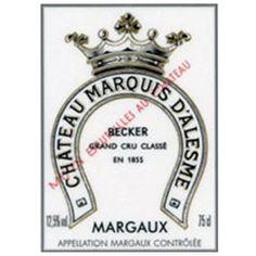Château Marquis d'Alesme Becker, Margaux, 3ème Cru Classé - 12bouteilles
