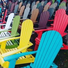 Adirondack chairs in Meridith New Hampshire #adirondacks #adirondack #adirondackchair #adirondackchairs #chairs #colors
