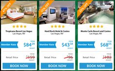 Viva Las Vegas!! You don't have to gamble with our prices. We can save you up to 70% on the hottest hotels worldwide! #hotels #travel #discounts #luxuryforless  Here's a snapshot of this week's hot deals (2/2/2015-2/6/2015):