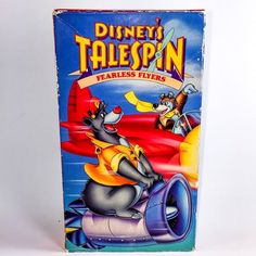 Disneys Tale Spin Fearless Flyers VHS Cassette Tape Animated Cartoon Baloo