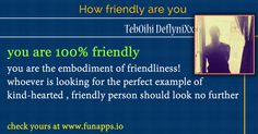 How Friendly Are You? Find Out Now!