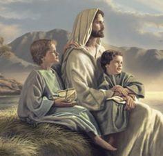 Jesus and children Pictures Of Jesus Christ, Religious Pictures, Bible Pictures, Jesus Christ Painting, Jesus Art, Christian Images, Christian Art, Religion Catolica, Lds Art