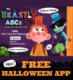 We LOVE Beastly ABCs - it's super cute & not scary at all. Right now it's FREE. :) http://youtu.be/O69fgnANIV8