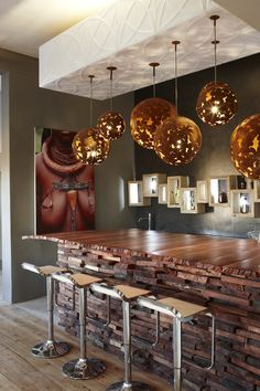 Bar at the Olive Exclusive Boutique Hotel, Windhoek, Namibia by designer Micky Hoyle