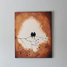 This silhouette painting is a pretty staple piece that you can easily make on yo. - This silhouette painting is a pretty staple piece that you can easily make on your own! Grab some p - Simple Acrylic Paintings, Easy Paintings, Acrylic Painting Canvas, Canvas Art, Vintage Paintings, Canvas Paintings, Diy Canvas, Watercolor Paintings, Canvas Prints