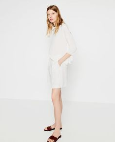 Image 1 of PLEATED SHORTS from Zara