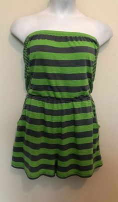 d5dad67dd43 NoBo Green   Gray Romper Junior Size XL Hatler Top Shorts Playsuit Jumpsuit   fashion  clothing  shoes  accessories  womensclothing  jumpsuitsrompers  (ebay ...