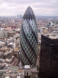 Unusual Architecture The Gherkin' In London Uk #London, #England, #travel,