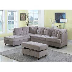 Farley Sectional Color: Beige, Orientation: Left Hand Facing - http://sectionalsofaspot.com/farley-sectional-color-beige-orientation-left-hand-facing-700443181/