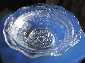 Indiana Glass EAPG Narcissus Spray Bouquet Serving Bowl