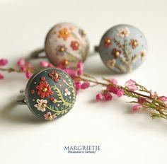 I Love Handmade: Blumen Rings by Margrietje