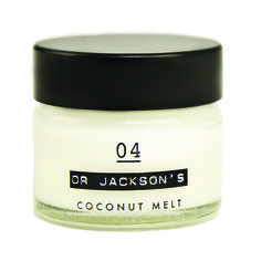Dr Jackson's -  Coconut Melt.  Purely organic and ideal for dry lips, the tips of your hair and for reinvigorating your skin. Packaged in practical, elegant little pots that fit in any handbag.