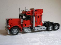 [MOC] Longnose Truck Lego Technic, Plastic Model Kits, Plastic Models, Ghost Rider 2007, Lego Truck, Amazing Lego Creations, Lego Builder, Truck Coloring Pages, Mercedes Benz Logo