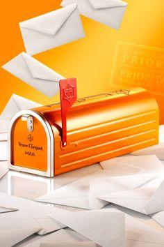 Briefkasten von Vueve Clicquot